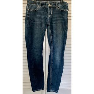Blue Express Jeans with Silver Stitching